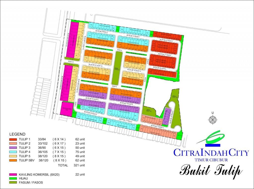 Siteplan Bukit Tulip